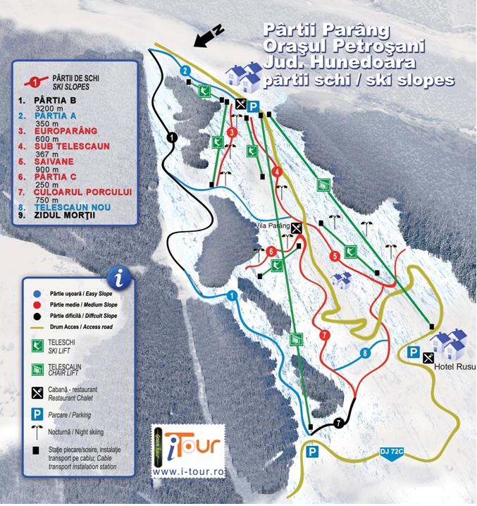 Harta-partii-schi-Parang