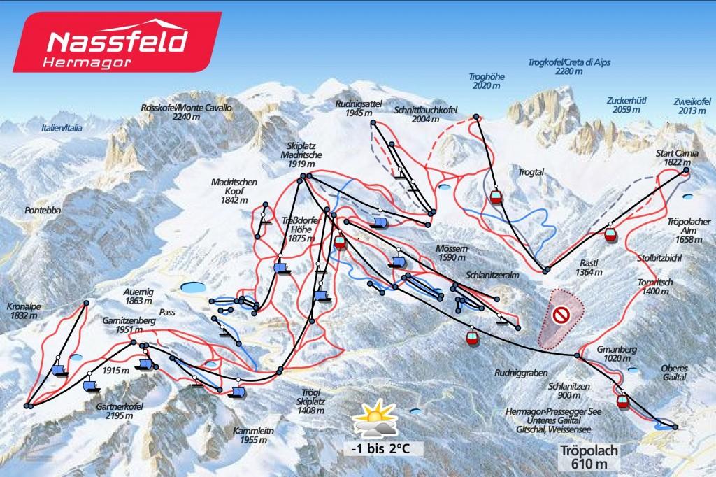 Nassfeld harta schi