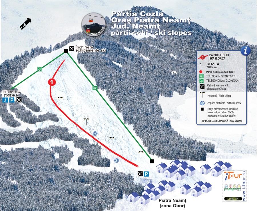 Partia de schi Cozla harta