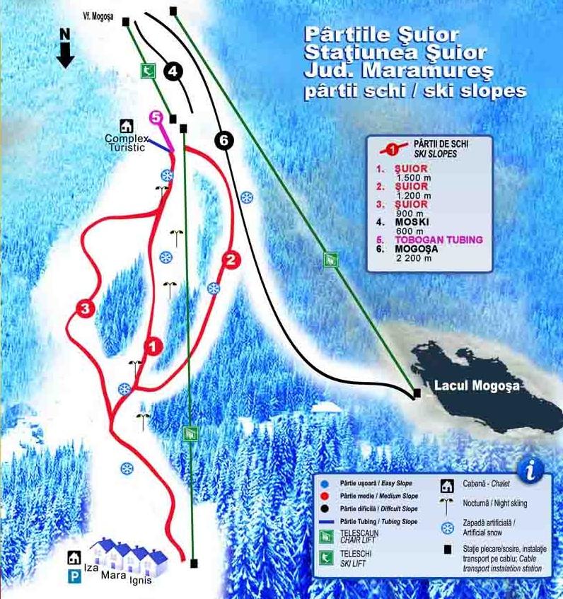 harta schi suior
