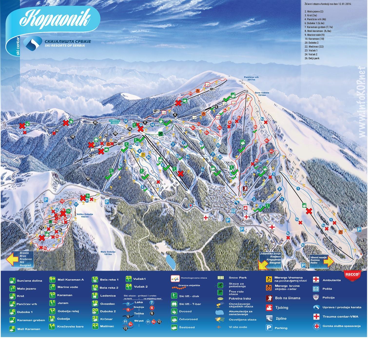 Ski Kopaonik Serbia Trecator Prin Lume