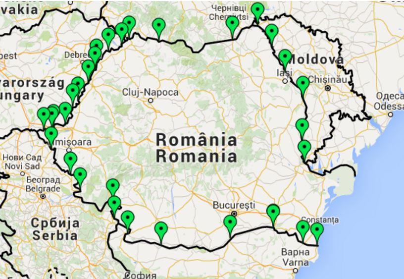 Harta Interactivă A Punctelor De Trecere A Frontierei Trecator