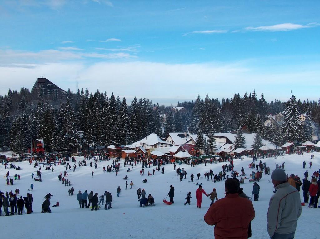 Statiunea Poiana Brasov iarna