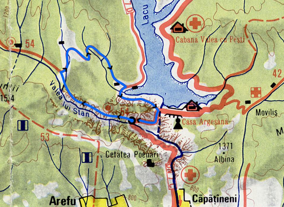 Valea lui Stan harta